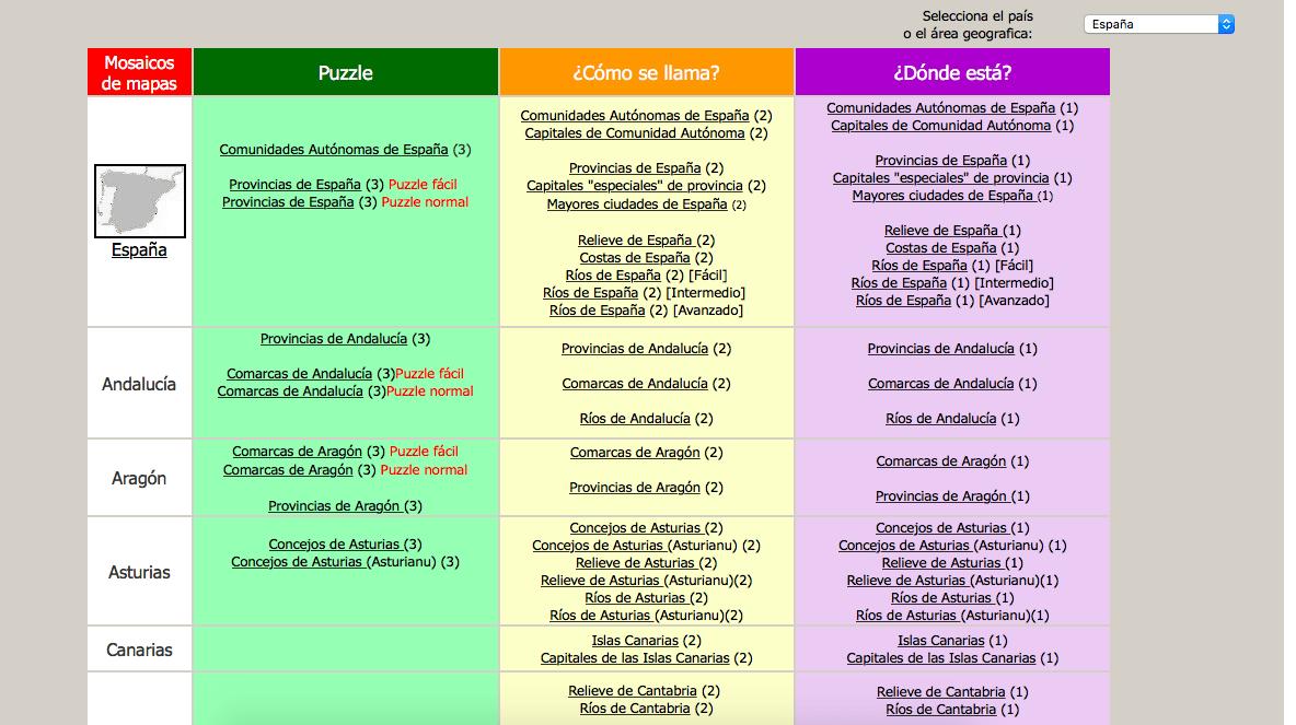 Las Mejores Las Mejores Webs Con Mapas Interactivos Educación 30