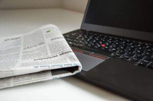 Periódico y portátil - trabajar la prensa escrita en el aula