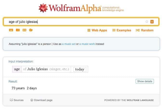 usar Wolfram Alpha en clase