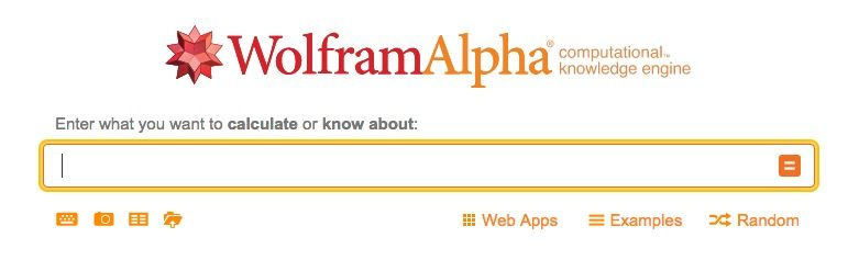 Wolfram Alpha main