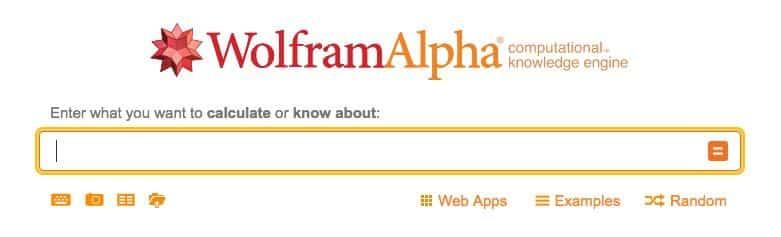 Wolfram Alpha main