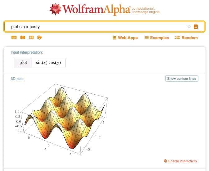 Cómo usar Wolfram Alpha