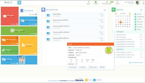 Alexia, la plataforma de gestión con cuaderno del profesor