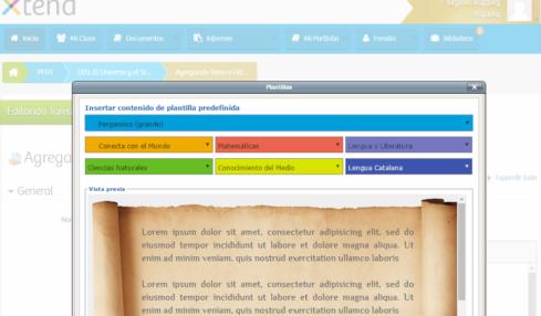 Conocimientos y contenidos compartidos con Xtend
