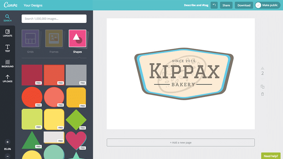 canva badges design