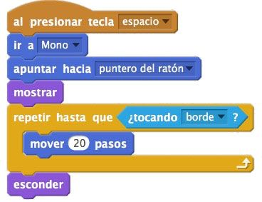 movimiento bananas en Scratch
