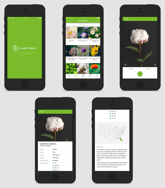 plantsnap app screenshots