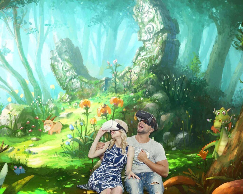 Realidad virtual y dragón - pixabay