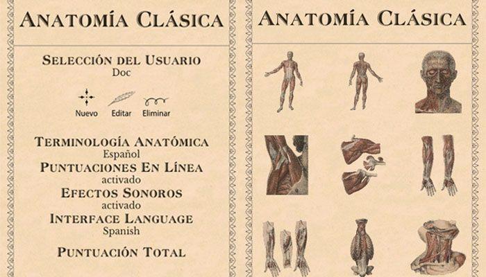 anatomía clásica el cuerpo humano