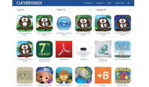 Monitores interactivos de Clevertouch con aplicaciones adecuadas para el aula 2