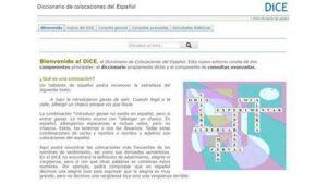 diccionarios online dice colocaciones español