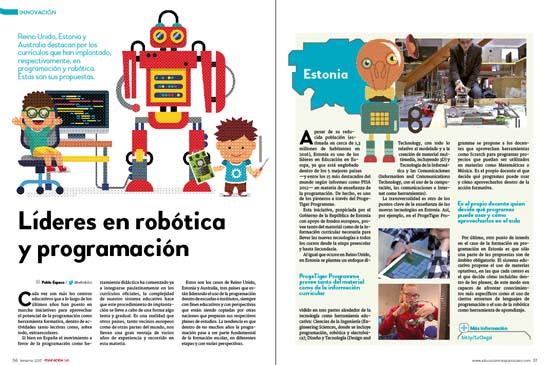 innovacion tres paises lideres en robotica y programacion