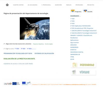 Departamento de tecnología del IES Villablanca (Madrid)