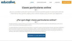 educalive, clases particulares on line