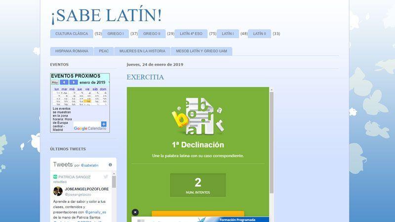 ¡Sabe latín!