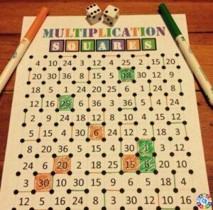 Ideas DIY para aprender las tablas de multiplicar de forma manipulativa 3