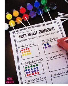 Ideas DIY para aprender las tablas de multiplicar de forma manipulativa 2