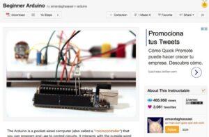 6 webs con recursos y tutoriales para aprender Arduino en clase 5