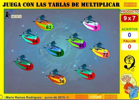 Resultado de imaxes para JUEGOS TABLAS MULTIPLICAR