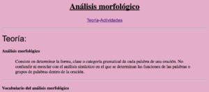 5 recursos para el análisis morfológico en Lengua 4
