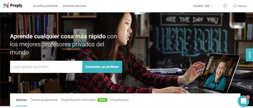 Preply, clases particulares on line