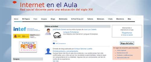 Redes sociales educativas: Internet en el aula
