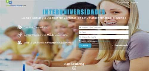 Redes sociales educativas: Interuniversidades