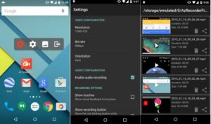 Apps para hacer screencast (grabar la pantalla) de tu smartphone o tablet 2