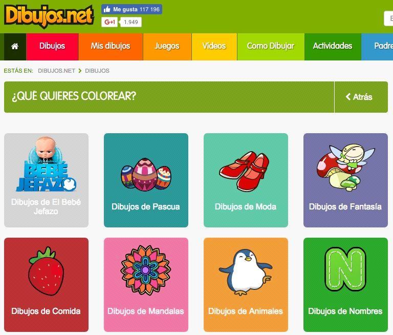 Webs Para Descargar Plantillas Para Colorear En Infantil Y