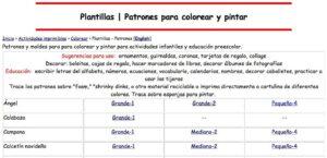 Webs para descargar plantillas para colorear en Infantil y Primaria 4
