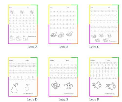 recurso actividades para primaria caligrafía