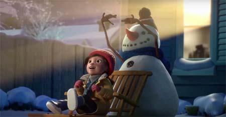 Lily y su muñeco de nieve
