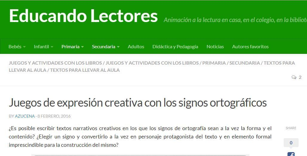 Expresión creativa con signos ortográficos