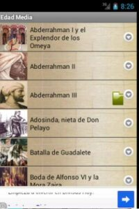 pasajes de la historia app