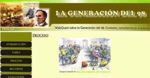 Juegos para estudiar la Generación del 98