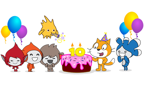 Scratch cumple 10 años