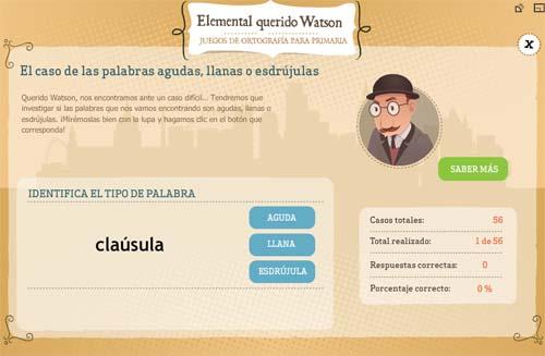 Elemental Querido Watson- ortografía para primaria