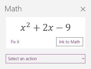 Matemáticas en OneNote