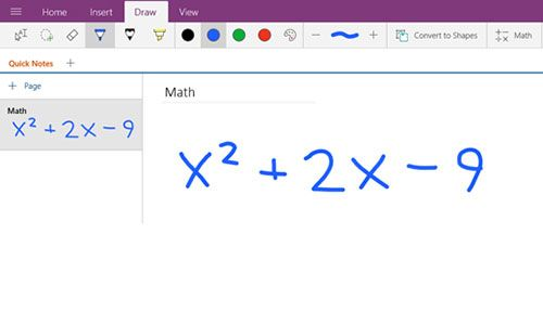 OneNote Matemáticas