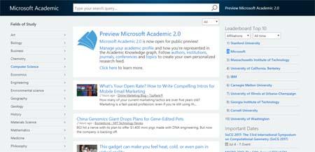 buscador microsoft academic