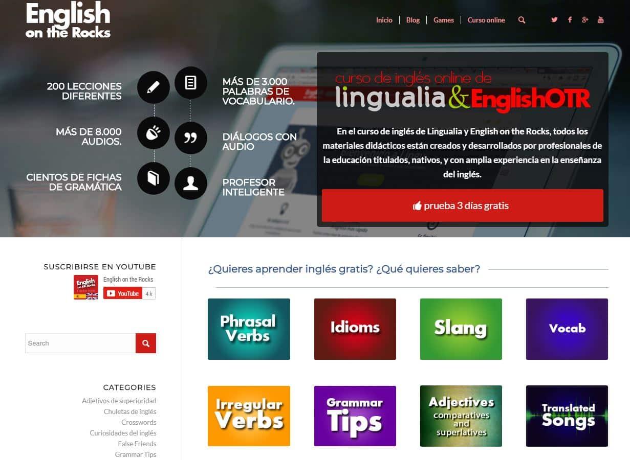 webs para aprender inglés english on the rocks
