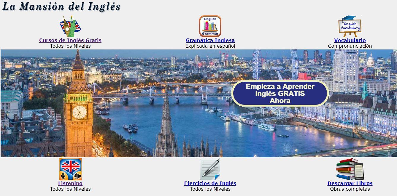 webs para aprender inglés la mansion del ingles