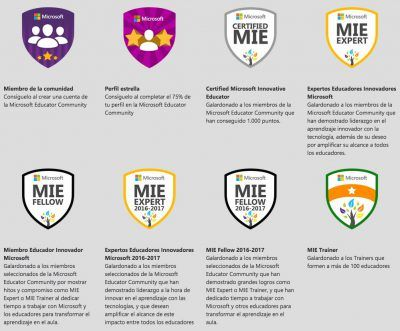 Microsoft Education badges