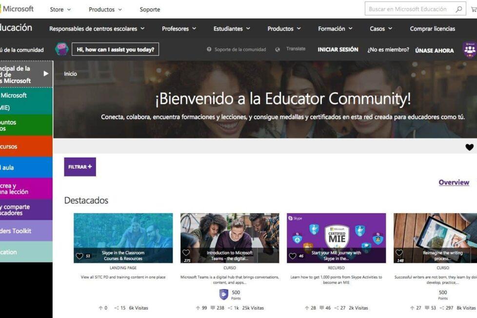 Formación on line, a distancia y gratuita para docentes, de Microsoft 4