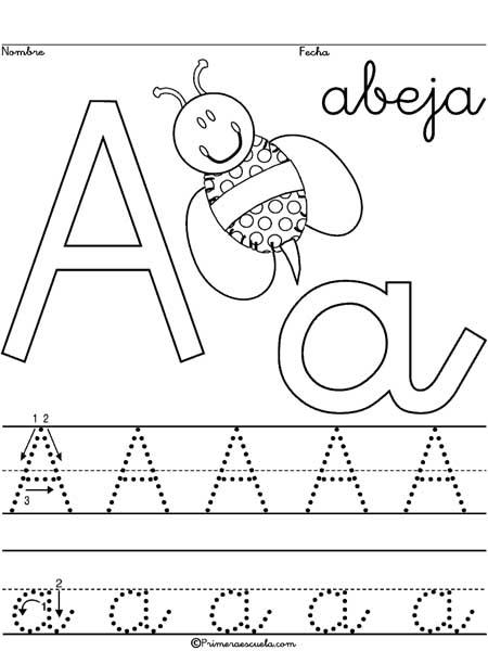 abeja actividades para primaria caligrafía