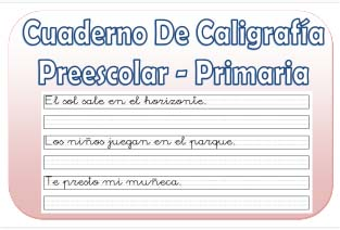 preescolar actividades para primaria caligrafía
