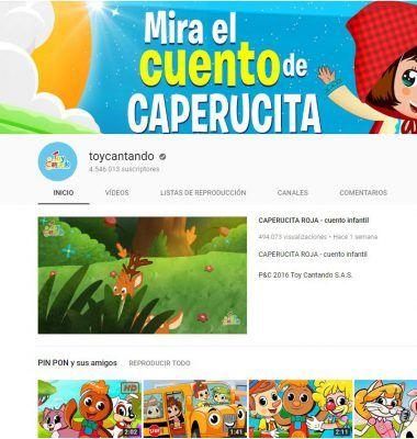 Toycantando - vídeos educativos en Youtube