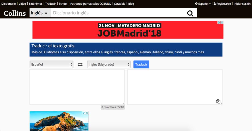 traductor online collins diccionario