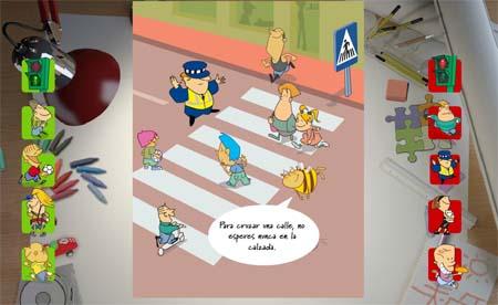 guía del peatón - Educación Vial para niños