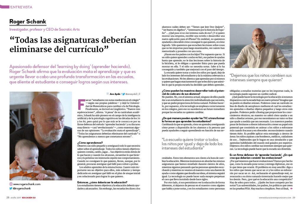 entrevista roger schank